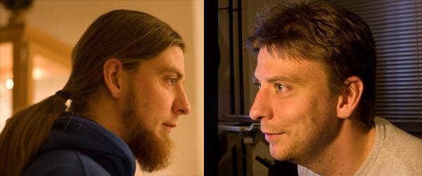 Nanne voor en na de kapper